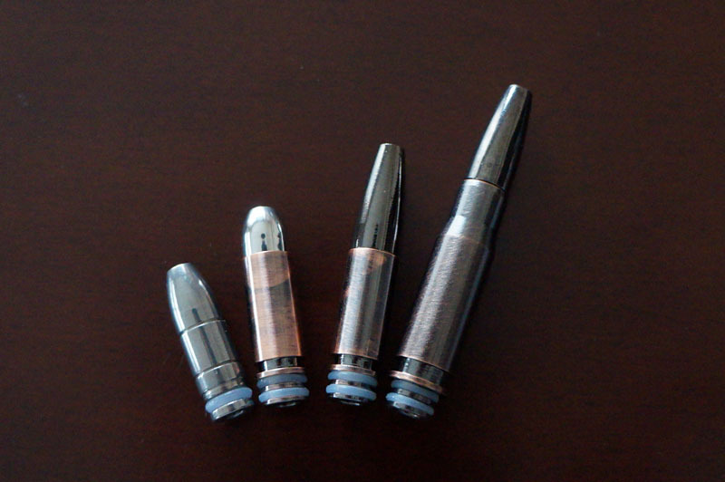 【電子タバコ用ドリップチップ】バレット型ドリップチップ 510型対応 ステンレス製 弾丸 1.JPG
