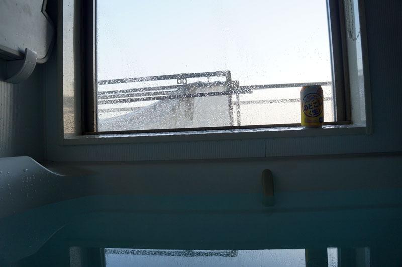 お風呂でビール.JPG