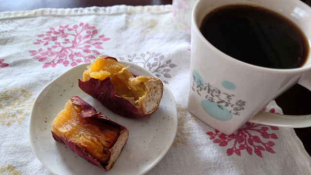 コーヒー&サツマイモ.JPG
