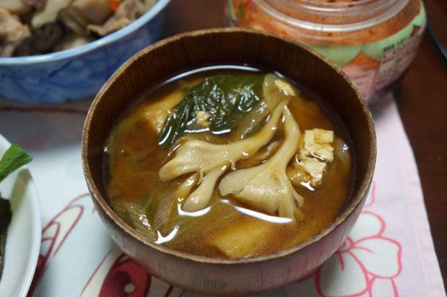 マイタケのお味噌汁.JPG