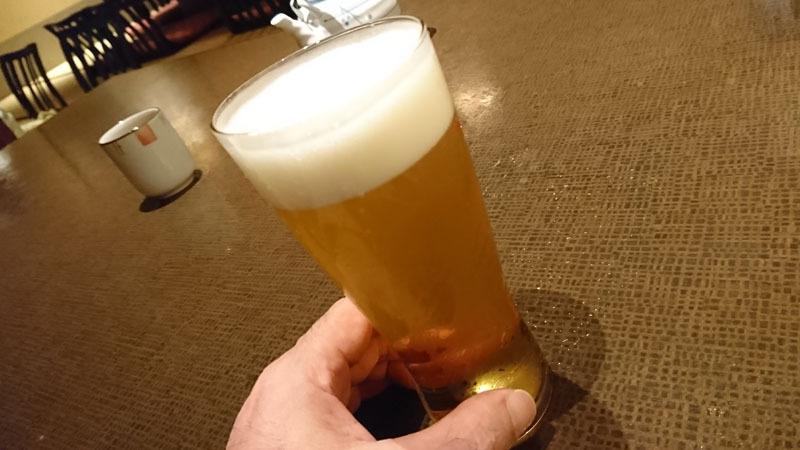 中の茶屋 重籠 生ビール.JPG