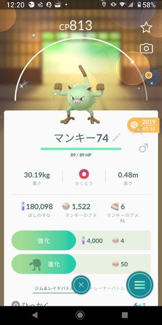 Pokémon GO Tour:カントー地方 (2)マンキー色違い.jpg